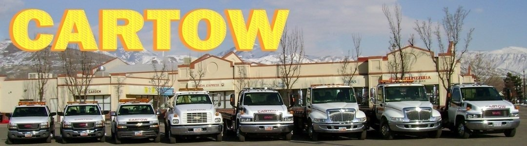 Tows start at $55. Cartow has one of the largest fleet of trucks with no wait time in the Salt Lake area. Serving all of Utah since 1980. Cartow Towing Salt Lake City Utah Accident Towing Long Distance Utah Towing, Murray Towing, West Valley City Towing, Kearns Towing, Cottonwood Heights Towing, Millcreek Towing, Lockouts, Draper Towing, Herriman Towing, Riverton Towing, Tow Truck, South Jordan Towing, West Jordan Towing, Sandy Towing, University Towing, Avenues Towing Utah Tow Truck. Parking Enforcement Taylorsville Towing, Tire Change. Jump Start Roadside Assistance Emergency Service Salt Lake City Utah Towing